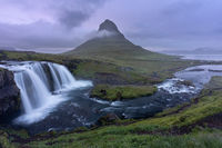 Mt. Kirkjufell & Kirkjufellsfoss in Grundarfjörður