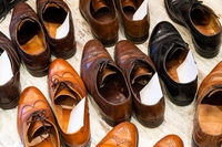 Used leather shoes