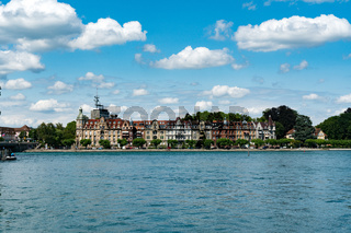 the old city of Konstanz on Lake Constance with historic buildings and lakefront view