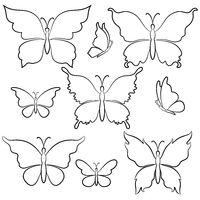 Butterflies Contours