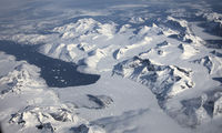 Greenland seen from the sky