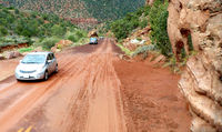 The Zion-Mt. Carmel Highway after a thunderstorm