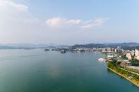 hangzhou thousand island lake and county scenery