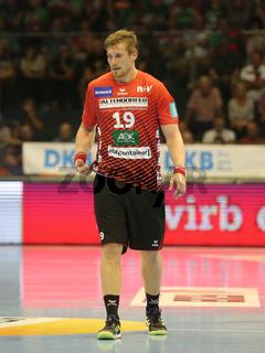 Luca de Boer ( HSG Nordhorn-Lingen) beim Liqui Moly HBL Punktspiel SC Magdeburg gegen HSG Nordhorn-Lingen Saison 2019/2020