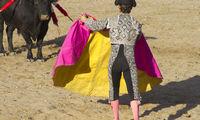bullfight, traditional Spanish party where a matador fighting a bull