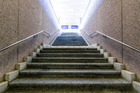 Stairs in railway station