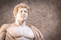 Marble statue with nacked sensual chest