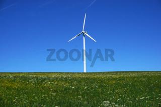 Windrad auf dem Himmelberg bei Melchingen, Schwäbische Alb
