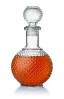 Front view of crystal brandy
