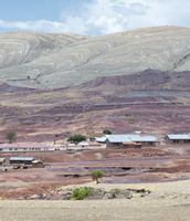 Colorful Mountainous Landscape At The Crater Of Maragua`S Dormant Volcano, Bolivia