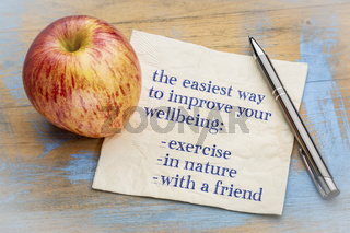 advice on improving your wellbeing