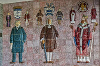 Tiles In The Entrance To The Courthouse, Trondheim, Norway