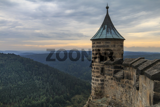Festung Königstein, Elbe, September