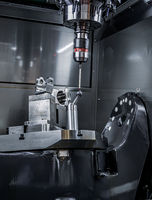 Quality control measurement probe. Metalworking CNC milling machine.