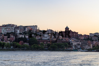 waterfront in Fatih district in Istanbul city