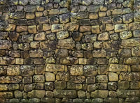Ancient Stone Wall Pattern Background
