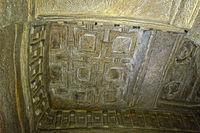 Aksumite stone bas-relief,rock-hewn church Medhane Alem Kesho, Ethiopia
