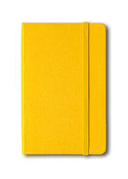 Yellow closed notebook isolated on white