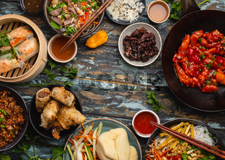 Assorted Chinese dishes