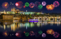 Fireworks in Prague - Czech Republic