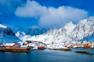 'A' village on Lofoten Islands, Norway
