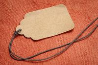 blank paper price tag with a twine