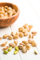 The pistachio nuts.
