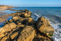 Big stones on the edge of the Black Sea