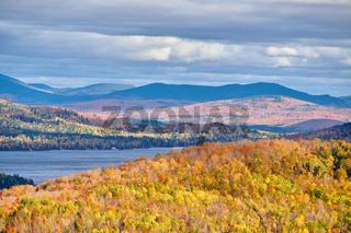 Mooselookmeguntic Lake at autumn, Maine, USA.