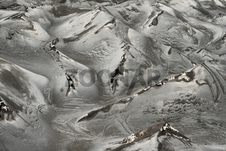 Volcanic Ash Covers The Landscape Near The Active Volcano At Mt. Bromo, East Java, Indonesia