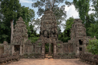 Entrance to Preah Khan with three towers