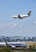 Airplanes of Lufthansa and Ryanair