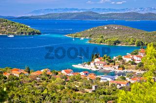 Zman on Dugi Otok island bay and landscape view