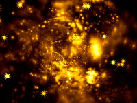 Bright blurred space theme background - abstract digitally generated image