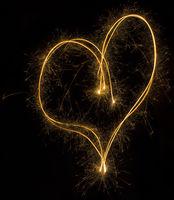Sparkler Heart Symbol