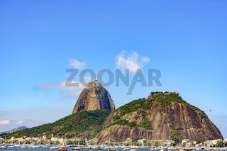 Sugar Loaf hill, sea and boats