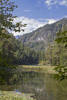 lake Mittersee - mountain lake on the Fernpass