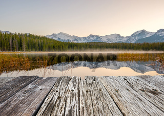 Bierstadt Lake, Rocky Mountains, Colorado, USA.