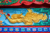 FengHuang chinese phoenix bas-relief