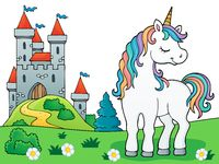 Dreaming unicorn theme image 1