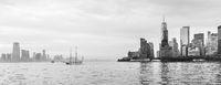 Panoramic view of Lower Manhattan and Jersey City, New York City, USA