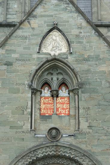 North Portal of Nidaros Cathedral in Trondheim