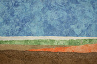 abstract landscape with amate paper