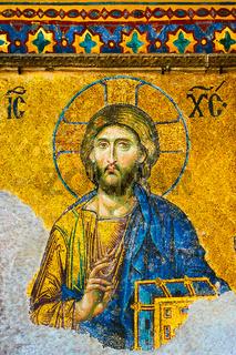 Jesus Christ - ancient mosaic