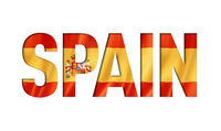 spanish flag text font