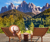Two deck chairs to review the Alps