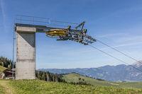 End station of a ski lift, Gummenalp, Nidwalden, Switzerland, Europe