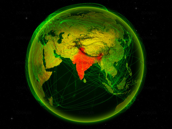 India on Earth with network