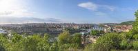 Prague city panorama in summer