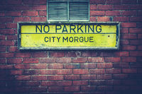 City Morgue Sign